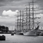 Schiffe im Hafen von Warnemünde zur Hansesail. 2013.