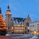 Köthen. Rathaus, Weihnachten. 2010.