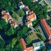 Luftbild vom Schloss in Köthen